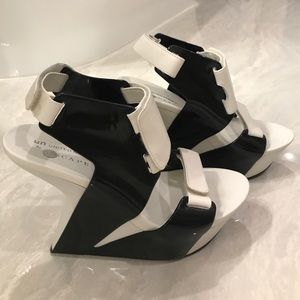 Black and white wedges