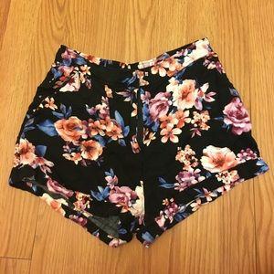 Forever 21 Floral Soft Shorts W/ Pockets