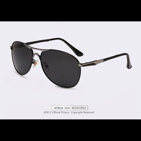 695106240c1 AOFLY Authentic Men s Aviator Sunglasses