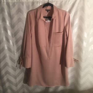 TOPSHOP Blush Shirt Dress