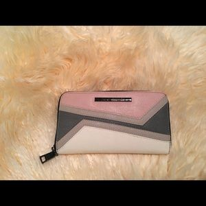 Steve Madden Pink and Gray Wallet