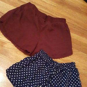 Flowy dress shorts bundle