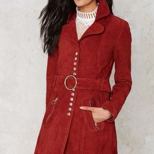 🆕 Nasty Gal The Kids are Alright Suede Coat