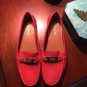 Red Coach Loafers