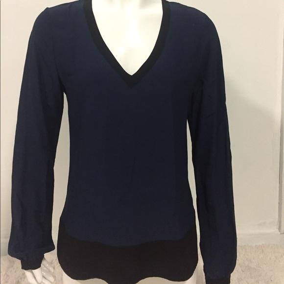 Beyond Vintage Tops - Beyond Vintage size Small blue black Long sleeve