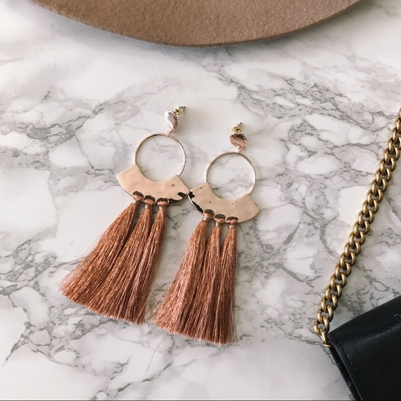 Jewelry - ⭐️ SALE ⭐️ DELILAH Rose Gold Tassel Earrings