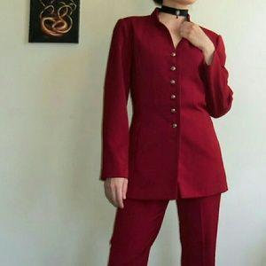 Regal Dark Red Vintage Pant Suit