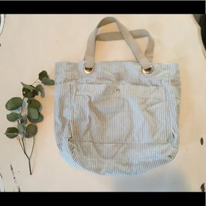 Handbags - Cotton striped beach bag