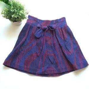 Anthropologie Eidra Woven Pattern Skirt Size 4