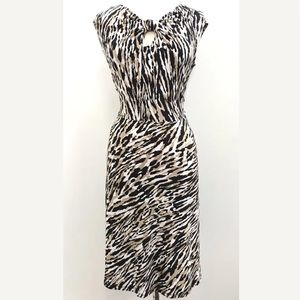NEW! Jones New York Keyhole Print Stretch Dress
