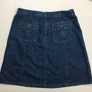 Blue Jean 2 Pocket Skirt