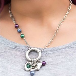 Jewelry - 🆕 Multi color heart charm necklace & earring set