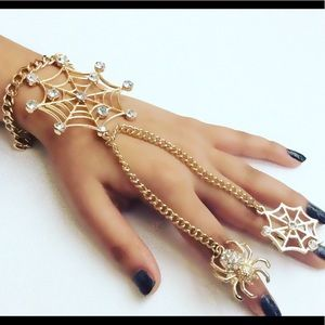 Jewelry - Halloween Gold Hand Chain Bracelet