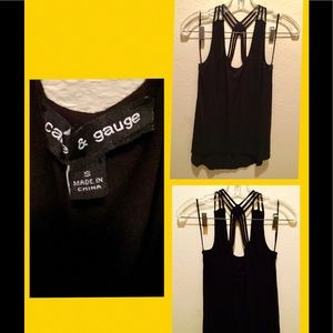 Cable & Gauge Sleeveless Strap Top SZ S 💋😎