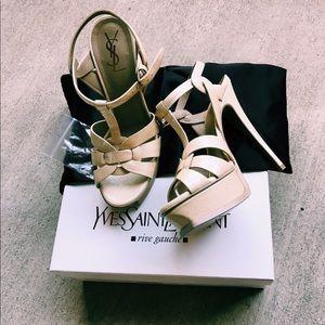 Yves Saint Laurent Tribute 105 Sandals Nude Patent
