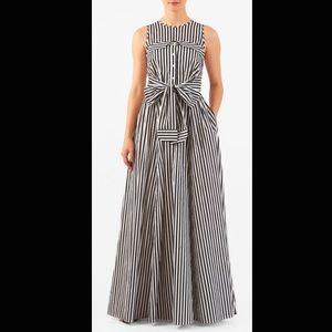 New Eshakti Striped Fit Flare Maxi Dress XL 18