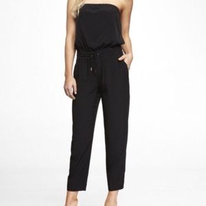 Express Black Strapless jumpsuit romper