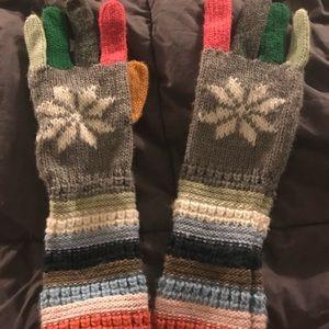 Gap Multi-Colored Gloves - EUC! ❄️⛄️