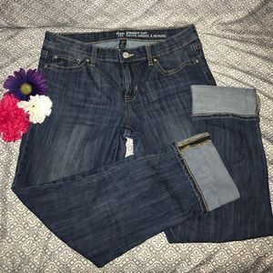 Gap straight cuff denim capris