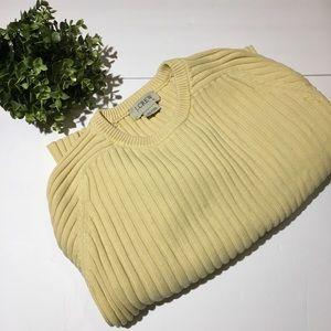 J. Crew older style yellow sweater