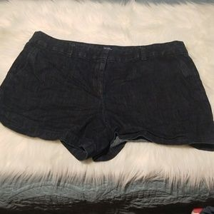Cute flat front jean 16 loft shorts!