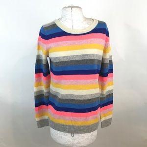 J. CREW   New Wool Teddie Striped Sweater