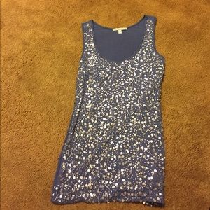 Blue/purple sequin top