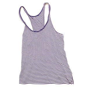 Purple striped Lululemon workout top sz 4