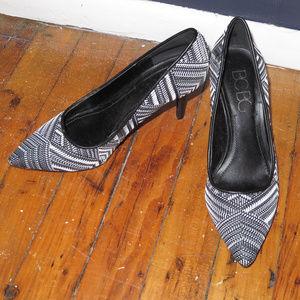 BCBG Black and White Heel