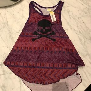 SoulCycle NWT purple skull tank