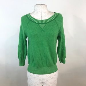 J. CREW   Italian Cashmere Green Sweater