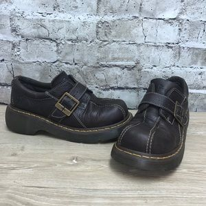 Women's Dr. Martens Brown Leather Shoe 9 Like New