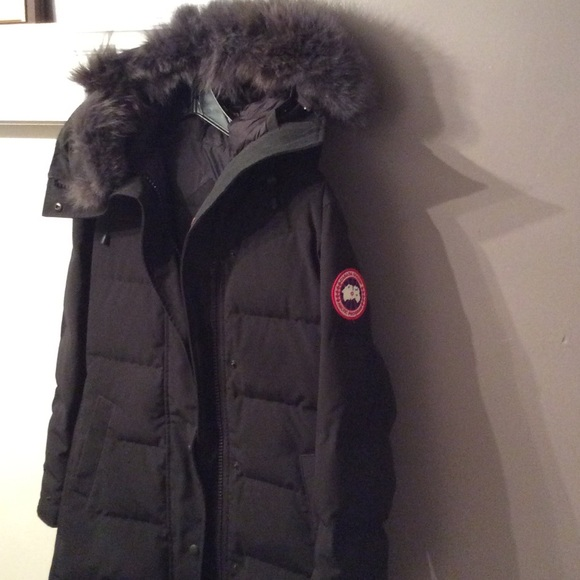 Canada Goose Shelburne Black Fur Exclusive XS