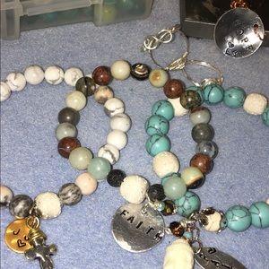 Handmade natural stone bracelet