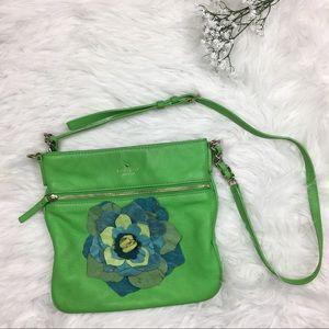 Kate Spade Crossbody Bag Purse green Leather