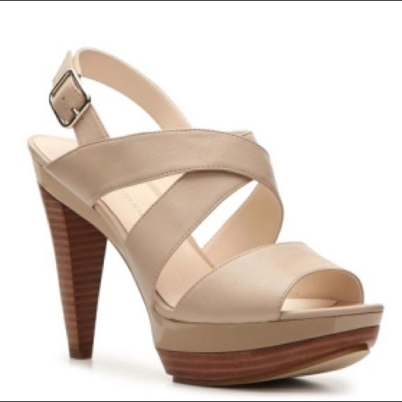 fc66af0a83d Audrey Brooke Shoes - AUDREY BROOKE ABRAM NUDE OPEN TOE HEEL SANDAL