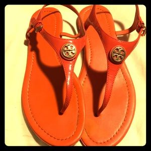Orange Tory and Burch Sandals 9.5