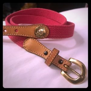 Jordache fabric and leather belt