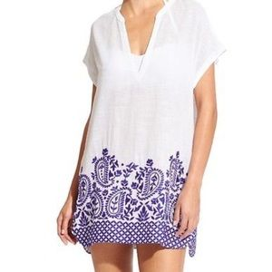 NWT Athleta embroidered luxe swim cover up.