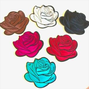 Accessories - Rose Patches, Iron On Flower Applique, lot, Patch