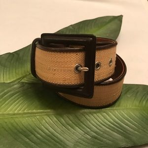 Ralph Lauren Straw and Leather Belt