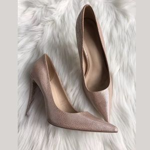 Asos Pink Platinum Pointed Toe Stiletto Pumps 7.5