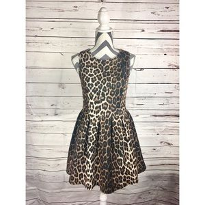 TOPSHOP Leopard Print Skater Dress