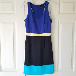 Cynthia Rowley color block dress neon highlights