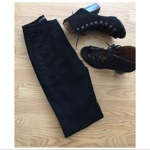 Super High Waist Denim Skinnies- Black