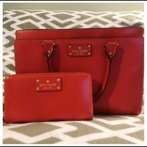 ♠️ Kate Spade • Red Purse & Wallet