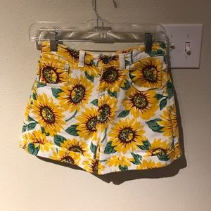Limited edition sunflower shorts