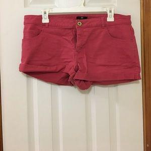 Women's reddish pink jean shorts
