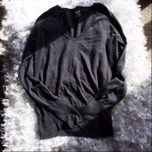 J. Crew Gray Medium V Neck Sweater