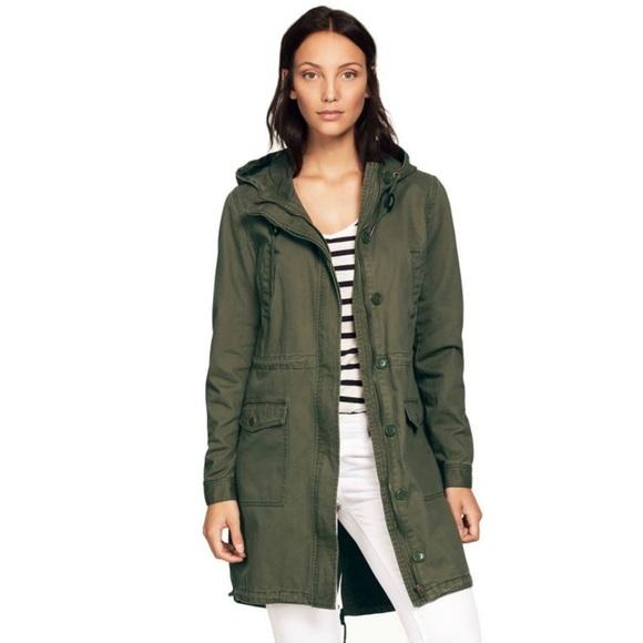 995f0aae447 Ellos Jackets   Blazers - Ellos Twill Anorak Cargo Jacket Hooded Olive 18 20